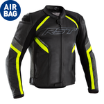 RST Sabre CE Airbag Leather Jacket - Black/Grey/Flo Yellow