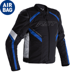 RST Sabre CE Airbag Textile Jacket - Black/White/Blue