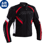 RST Sabre CE Airbag Textile Jacket - Black/White/Red