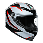 AGV K6 Flash - Matt Black/Grey/Red | AGV K6 Collection | Free UK Delivery