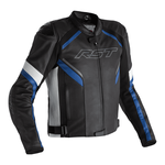 RST Sabre CE Leather Jacket - Black / White / Blue