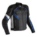 RST Sabre CE Leather Jacket - Black / White / Blue