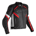 RST Sabre CE Leather Jacket - Black / White / Red