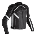 RST Sabre CE Leather Jacket - Black / White