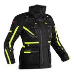 RST Pro Series Paragon 6 CE Ladies Airbag Textile Jacket - Black / Flo Yellow