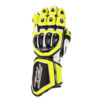 RST Tractech Evo 4 CE Leather Gloves - Flo Yellow