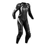 RST Tractech Evo 4 Ladies Leather Motorcycle Suit - Black / White