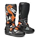 Sidi Atojo SRS MX Boots - White/Black/Orange