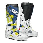 Sidi Atojo SRS MX Boots - Yellow Flo/White/Blue