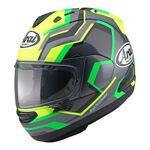 Arai RX-7V RSW Flo Yellow | Arai Helmets at Two Wheel Centre