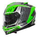 Spada SP1 Helmet - Raptor Graphic - Green/Grey | Spada Helmets at Two Wheel Centre | Free UK Delivery