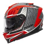 Spada SP1 Helmet - Raptor Graphic - Red/Grey | Spada Helmets at Two Wheel Centre | Free UK Delivery