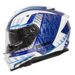 Spada SP1 Helmet - Raptor Graphic - White/Blue | Spada Helmets at Two Wheel Centre | Free UK Delivery