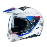 HJC C80 Bult - White/Red/Blue | HJC Helmets at Two Wheel Centre | Free UK Delivery