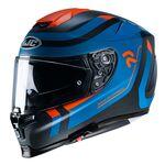 HJC RPHA 70 Carbon Fibre Reple - Blue/Orange   HJC Helmets at Two Wheel Centre   Free UK Delivery