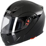 Duchinni D606 Flip Front Helmet - Gloss Black | Duchinni Motorcycle Helmets | Free UK Delivery