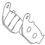 Suzuki GSX-R125 Rear Brake Pad Set