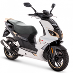 Peugeot Speedfight 4 50cc - Icy White and Pink Gold | Two Wheel Centre | Peugeot Scooter Dealers, Mansfield, Notts, UK