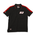 Marc Marquez Polo T-Shirt Black Front