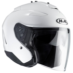 HJC IS-33 2 White Open Face Helmet Black