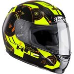HJC CLY Simitic Fluo Yellow Childrens Ladies Helmet