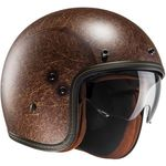 HJC FG-70S Vintage Matt Brown open face helmet