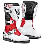 Sidi Trial Zero 1 Motocross Trials boots white red