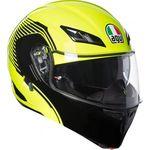 AGV Compact-ST Vermont Flo Yellow Black Flip Front Helmet