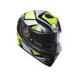 AGV K3 SV Liquefy Grey Flo Yellow Helmet