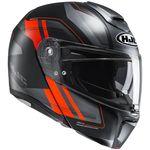 HJC RPHA 90 Tanisk - Red Flip Front Helmet
