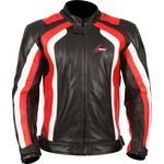 Weise Corsa RS Black Red Leather Jacket