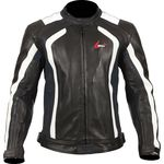 Weise Corsa RS Black White Leather Jacket