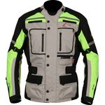 Weise Stuttgart Jacket - Stone / Neon Textile Touring Jacket
