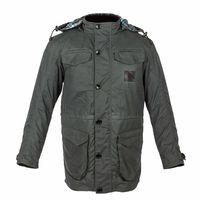 Spada Jimmy Who Wax Parka Jacket - Dark Grey