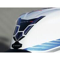 2018 Suzuki GSX-R1000 Tank Pad Protector Blue / Carbon