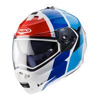 Caberg Duke Flip Front Helmet - Impact - White / Blue / Red