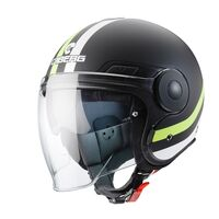 Caberg Uptown Open Face Helmet Matt Black Yellow
