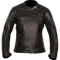 Weise Chicago Ladies Leather Jacket - Black