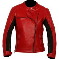 Weise Chicago Ladies Leather Jacket - Red