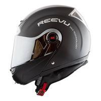 reevu fsx1 flip front helmet matt black