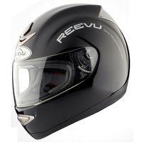 reevu black motorcycle helmet