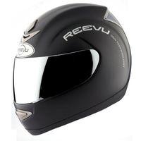 reevu matt black motorcycle helmet
