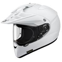 Shoei Hornet ADV white motorcycle helmet