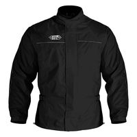 Oxford Rainseal All Weather Over Jacket Black Front View