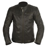 Oxford Route 73 Leather Jacket Black Front View