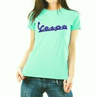 Vespa Ladies Aqua Green T-Shirt