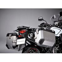 Suzuki V-Strom 650 ABS Side Case Set Black Silver