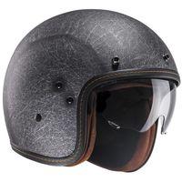 HJC FG-70S Vintage flat black open face helmet