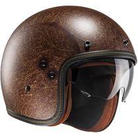 HJC FG-70S Vintage Matt Brown open face helmet