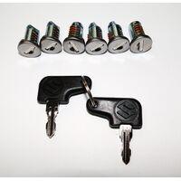 Suzuki V-Strom 650 Side Case 6pc lock set